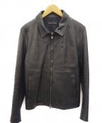 LOUNGE LIZARD(ラウンジリザード)の古着「シングルレザージャケット」|ブラック