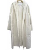 ANAYI(アナイ)の古着「フーデッドガウンロングコート」|ホワイト