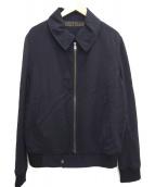 Yves Saint Laurent(イブサンローラン)の古着「ジップアップジャケット」|ネイビー