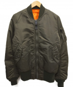 ALPHA INDUSTRIES(アルファインダストリーズ)の古着「MA-1フライトジャケット」|オリーブ