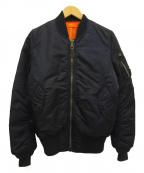 ALPHA INDUSTRIES(アルファインダストリーズ)の古着「MA-1fライトジャケット」|ネイビー