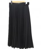 MOGA(モガ)の古着「トロピカルプリーツスカート」|ブラック