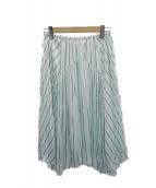 VINCE(ヴィンス)の古着「ストライプスカート」|スカイブルー