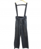 MM6 Maison Margiela()の古着「サスペンダー付ハイウエストトラウザーパンツ」|ブルー