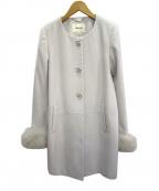 LAISSE PASSE(レッセパッセ)の古着「フォックスファー付コート」|グレー