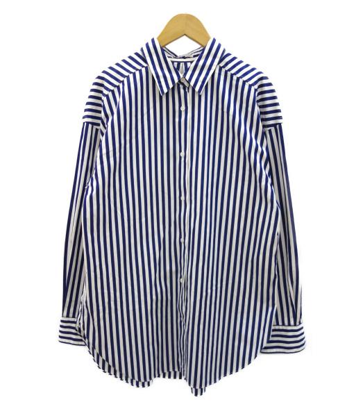 THOMAS MASON(トーマスメイソン)THOMAS MASON (トーマスメイソン) 2WAYシャツ ブルー サイズ:38 春物の古着・服飾アイテム