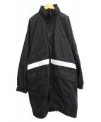 ()の古着「パッド入りライニングパーカー」|ブラック