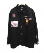 BURBERRY LONDON ENGLAND(バーバリー ロンドン イングランド)の古着「ポケットプリントジャケット」 ブラック