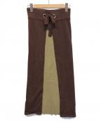 TAN(タン)の古着「レイヤードニットスカート」 ブラウン