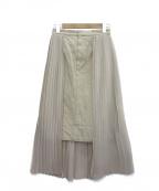 CLANE(クラネ)の古着「サイドプリーツスカート」|ベージュ