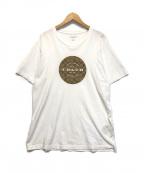 COACH(コーチ)の古着「サークルシグネチャーロゴTシャツ」|ホワイト