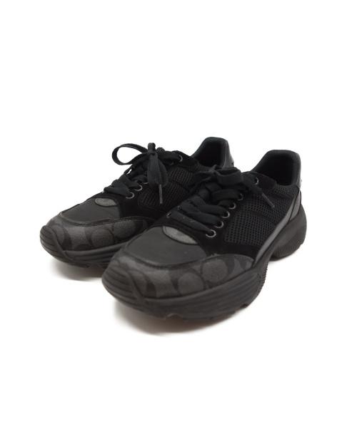 COACH(コーチ)COACH (コーチ) ダッドスニーカー ブラック サイズ:26cm FG4591の古着・服飾アイテム