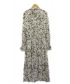 LUMINOSO COMMECA(ルミノーゾコムサ)の古着「レオパードプリントドレス」|ベージュ