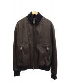 RUFFO(ルッフォ)の古着「ナッパレザーフライトジャケット」|ブラウン