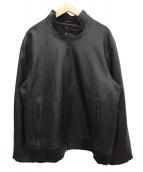 Eddie Bauer(エディーバウアー)の古着「シアトルレザーボマージャケット」|ブラック