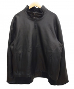 Eddie Bauer(エディーバウアー)の古着「シアトルレザーボマージャケット」 ブラック