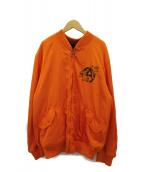Candy Stripper(キャンディーストリッパー)の古着「ボンバージャケット」|オレンジ