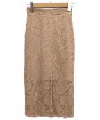 MSGM(エムエスジーエム)の古着「レーススカート」|ピンク