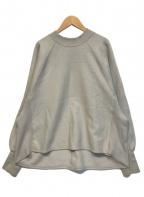 emmi atelier(エミアトリエ)の古着「裏起毛シルエットスウェットPO」|ベージュ