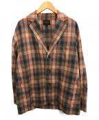 PENDLETON(ペンドルトン)の古着「別注チェックテーラードジャケット」|レッド