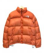 THE NORTH FACE(ザ ノース フェイス)の古着「ヌプシジャケット」|オレンジ