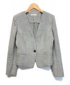 ()の古着「Vカラージャケット」 グレー