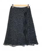 EPOCA(エポカ)の古着「フィオーレリバーレーススカート」|ネイビー