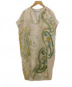 LORO PIANA(ロロピアーナ)の古着「シルクワンピース」 ベージュ