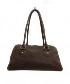 土屋鞄(ツチヤカバン)の古着「オイルヌメミニボストンバッグ」 ブラウン