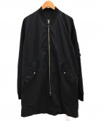 BEAMS()の古着「ロング丈MA-1ジャケット」|ブラック