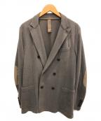 eleventy(イレブンティ)の古着「ダブルブレストジャケット」 グレー
