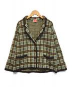 ()の古着「ヴィンテージニットジャケット」|ブラウン
