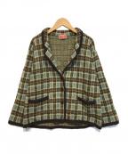 KENZO(ケンゾー)の古着「ヴィンテージニットジャケット」|ブラウン