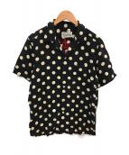 WACKO MARIA(ワコマリア)の古着「ドットオープンカラーシャツ」|ブラック