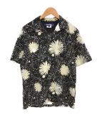 CDG JUNYA WATANABE MAN(コムデギャルソンジュンヤワタナベマン)の古着「17SS キュプラプリント アロハシャツ」|ブラック