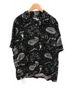 F.C.R.B.(エフシーアールビー)の古着「オープンカラーシャツ」|ブラック