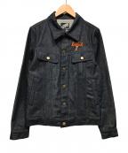 LEFLAH(レフラー)の古着「デニムジャケット」|ブラック