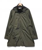 EDIFICE(エディフィス)の古着「タフタスタンドフーデッドコート」 オリーブ
