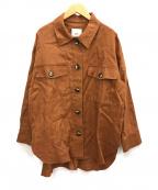 1er Arrondissement(プルミエ アロンディスモン)の古着「リネンシャツジャケット」|ブラウン