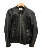 STUDIOUS()の古着「シングルレザーライダースジャケット」|ブラック