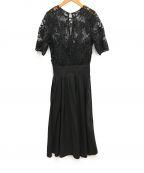 LAGUNA MOON(ラグナムーン)の古着「LADYオーバーレースギャザードレス」|ブラック