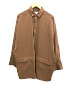 ()の古着「BIGカフスシャツ」|ブラウン
