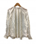 CASA FLINE(カーサフライン)の古着「タックスリーブブラウス」|ホワイト