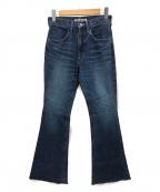 SHENERY(シーナリー)の古着「カットオフフレアデニムパンツ」 ブルー