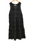 NATURAL LAUNDRY(ナチュラルランドリー)の古着「ノースリーブワンピース」|ネイビー