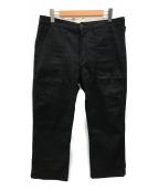 VISVIM(ビズビム)の古着「ヘリンボーンベイカーパンツ」|ブラック