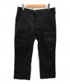VISVIM(ビズビム)の古着「ヘリンボーンベイカーパンツ」 ブラック