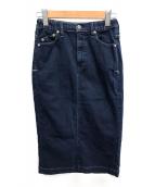 YANUK(ヤヌーク)の古着「デニムタイトスカート」|インディゴ