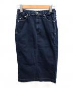 YANUK(ヤヌーク)の古着「デニムタイトスカート」 インディゴ
