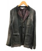 ()の古着「ピッグレザージャケット」|ブラック